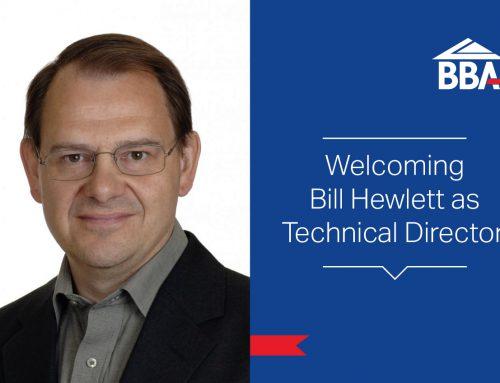 Bill Hewlett joins the BBA as Technical Director